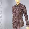 ladies' cvc yarn dyed blouse