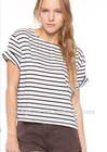 2012 Striped tee t-shirt for women HST622