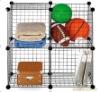 Wire Storage Cubes, Set of 4