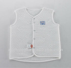 2012 fashion spring and autumn cotton white cloth chip vest for kids