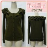 Ladies` Newest Fashion Falbala Knitted Coat 8520