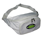 white promotional 600D polyester sports waist bag