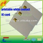 inkjet printable contact ic card with SLE4442 SLE4428