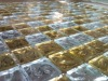 gold foil glass mosaic, for decoration