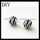 Zebra white and black porcelain beads