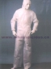 Waterproof Disposable Working Coverall white with hood and elastic waist