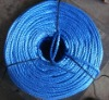 SPLIT FILM POLYPROPYLENE ROPE BLUE