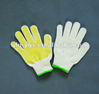 2012 hot sell white cheap dotted cotton gloves
