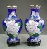 """Free shipping New chinese fashion blue cloisonne Vase decorative 8"""""""
