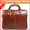 Wholesale high quality trendy cow leather laptop bags 15 for men