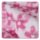 printed 144F coral fleece fabric