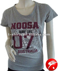 Ladies fashion classic cotton t shirt
