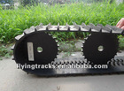 rubber track/ caterpillar tread for robot