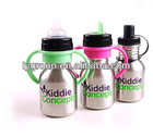 Newest bpa free stainless steel feeding bottle, stainless steel milk bottle, stainless steel sippy cup