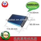 6000 MAH Emergency Portable power bank for iphone /ipad