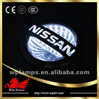 3D car logo light white/red/blue/RGB for Nissan