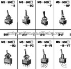 MS-500H toggle switch MS-500I miniature switch MS-500F