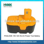 Power Tools Replacement Ni-mh 18V 3Ah Battery for PASLODE