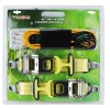 "15pcs diy product set including 2"" ratchet tie down,bungee cord and net"
