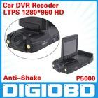 Portable Car DVR P5000 2.0 inch LTPS 1280*960 HD Screen Car Black Box Traffic Recorder 270 Degree Car Video Camera DVR
