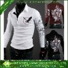 American Stylish Mens 50% cotton 47% polyester 3% spandex Eagle Printed Polo Shirts