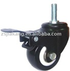 light-duty caster with brake
