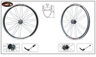 "MINGTAI MTSC30 Bicycle Bike Alloy Rim Wheels 26""x1.75inch 28H Black Printing 6061-T6 Aluminum"