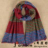 Multi-Colored Stripe Pattern Knit Rugby Scarf