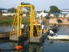 Submerged pump dredger , river sand mining dredge equipment