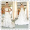 A-line Bubble Taffeta Beading Crystal Floor-length Wedding Dress WDS27