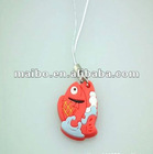 fish shape mobile phone strap , promotiongift