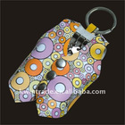 Cute design leather key holder for promotion
