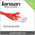 RJ45 UTP CAT 5E 1M Patch Cable, Gold Plated, 100Mhz, PVC/LSOH, ETL/UL/ROHS, LANSAN