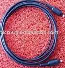 PVC black plastic cable, optical fiber cable, copper cord, Toslink cable, dc cable connector with dc round plug