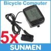 5xNew LCD Cycling Bicycle Computer Odometer Waterproof Speedometer 24 Functions