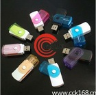Fashionable and colorful for Multi usb card reader