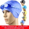 2011 cute stlye silicone swimming cap strong flexible