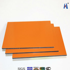 solid orange color aluminum composite panel/sign board for advertisement