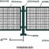 hot dip galvanized metal grid garden fence