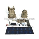 Quality goods solar outdoor backpack digital camouflage bag army fan flexible solar panels 13 watts