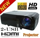 1280*800 Support 1080i,1080p HD Home Theatre 2600 lumens LED Projector Lamp Life 50,000 HRS Wii XBox PS3 Bluray
