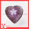 heart shape resin beads rhinestones in purple color