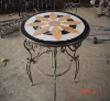 marble mosaic pattern table