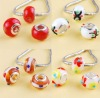 Mix Color Lampwork Glass European Beads ,925 Stamped