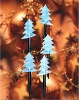 Christmas lights-5 Pointed Balcony Xmas Tree LED Gardenstick