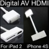 Digital AV HDMI Adapter to HDTV for Apple iPad 2 iPhone 4S 4G iPod Touch New