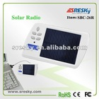 Portable solar pocket radio with charger