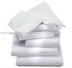 Cotton/ polyester white bed sheet for hotel