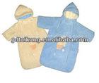 100% polyester coral fleece baby sleeping bag
