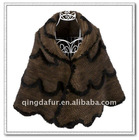 Fashion Mink Fur Knitted Ladies Shawl with flouncing !!!